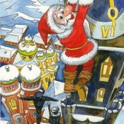 Postkarte-Ansichtskarte-Weihnachtskarte-Muenchen-KMS402